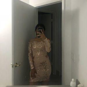 Cream party dress